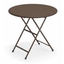 TABLE RONDE ARC EN CIEL, Marron d