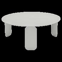 TABLE BASSE BEBOP, D.80, Gris métal de FERMOB