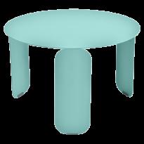 TABLE BASSE BEBOP, D.60, Bleu lagune de FERMOB