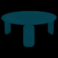 TABLE BASSE BEBOP, D.80, Bleu acapulco de FERMOB