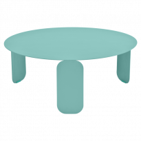 TABLE BASSE BEBOP, D.80, Bleu lagune de FERMOB