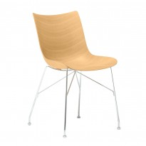 CHAISE P/WOOD, Hêtre clair, Chromé de KARTELL