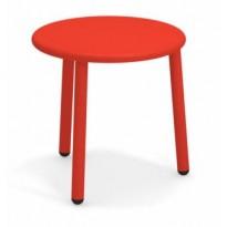 TABLE BASSE EN ALUMINIUM YARD, Ø50 cm, Rouge écarlate de EMU