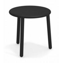 TABLE BASSE EN ALUMINIUM YARD, Ø50 cm, Noir de EMU