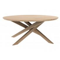TABLE BASSE RONDE MIKADO, Chêne d