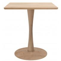 TABLE CARRÉE TORSION, 70 x 70 cm, Chêne naturel d
