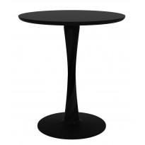 TABLE RONDE TORSION, 2 tailles, Noir d