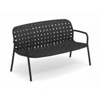 Sofa 2 places YARD de Emu, Noir - Gris/Noir