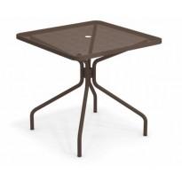 TABLE CARRÉE CAMBI, 80 X 80 cm, Marron d