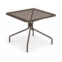 TABLE CARRÉE CAMBI, 90 X 90 cm, Marron d