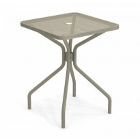 TABLE CARRÉE CAMBI, 60 X 60 cm, Gris vert de EMU