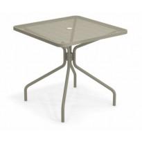 TABLE CARRÉE CAMBI, 80 X 80 cm, Gris vert de EMU