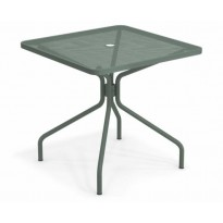 TABLE CARRÉE CAMBI, 80 x 80 cm, Vert foncé de EMU