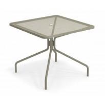 TABLE CARRÉE CAMBI, 90 X 90 cm, Gris vert de EMU