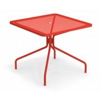 TABLE CARRÉE CAMBI, 90 X 90 cm, Rouge écarlate de EMU