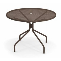 TABLE RONDE CAMBI, Ø106 cm, Marron d