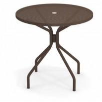 TABLE RONDE CAMBI, Ø 80 cm, Marron d