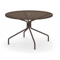 TABLE RONDE CAMBI, Ø120 cm, Marron d