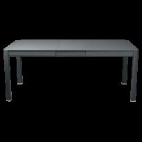 Table à allonges RIBAMBELLE de Fermob, 1 allonge, Gris orage