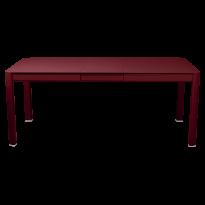 Table à allonges RIBAMBELLE de Fermob, 1 allonge, Piment