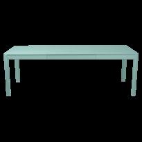 Table à allonges RIBAMBELLE de Fermob, 2 allonges, Bleu lagune