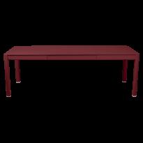 Table à allonges RIBAMBELLE de Fermob, 2 allonges, Piment