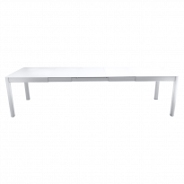 Table à allonges RIBAMBELLE de Fermob, 3 allonges, Blanc coton