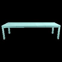 Table à allonges RIBAMBELLE de Fermob, 3 allonges, Bleu lagune