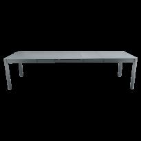 Table à allonges RIBAMBELLE de Fermob, 3 allonges, Gris orage