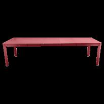 Table à allonges RIBAMBELLE de Fermob, 3 allonges, Piment