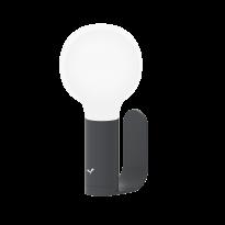 SUPPORT / APLLIQUE MURALE POUR LAMPE APLO, Carbone de FERMOB