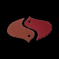 DESSOUS DE PLAT OISEAUX OCRE ROUGE/PIMENT de FERMOB