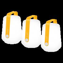 LOT DE 3 LAMPES H12 CM BALAD, Miel de FERMOB