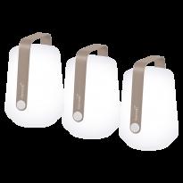 LOT DE 3 LAMPES H12 CM BALAD, Muscade de FERMOB