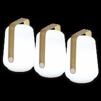 LOT DE 3 LAMPES BALAD H.12 cm, Edition spéciale Bamboo de FERMOB