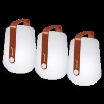 LOT DE 3 LAMPES H.12 CM BALAD, Ocre rouge de FERMOB