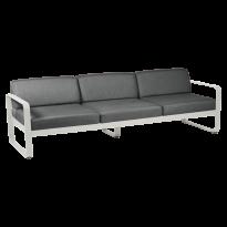 Canapé 3 places BELLEVIE de Fermob, coussin gris graphite, Gris argile