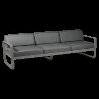 Canapé 3 places BELLEVIE de Fermob, coussin gris graphite, Romarin