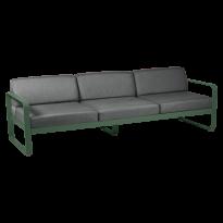 Canapé 3 places BELLEVIE de Fermob, coussin gris graphite, Vert cèdre