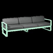 Canapé 3 places BELLEVIE de Fermob, coussin gris graphite, Vert opaline