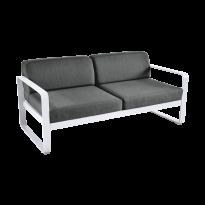 Canapé BELLEVIE de Fermob, coussin gris graphite, Blanc coton