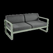 Canapé BELLEVIE de Fermob, coussin gris graphite, Cactus
