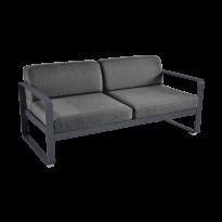 Canapé BELLEVIE de Fermob, coussin gris graphite, Carbone