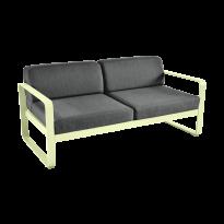 Canapé BELLEVIE de Fermob, coussin gris graphite, Citron givré