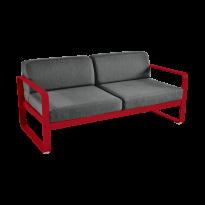 Canapé BELLEVIE de Fermob, coussin gris graphite, Coquelicot