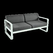 Canapé BELLEVIE de Fermob, coussin gris graphite, Menthe glaciale