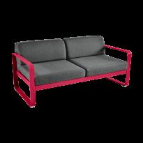 Canapé BELLEVIE de Fermob, coussin gris graphite, Rose praline