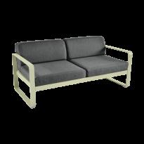 Canapé BELLEVIE de Fermob, coussin gris graphite, Tilleul