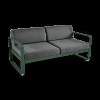 Canapé BELLEVIE de Fermob, coussin gris graphite, Vert cèdre