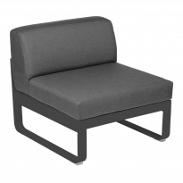Module central BELLEVIE de Fermob, 1 place, Carbone , coussin gris graphite
